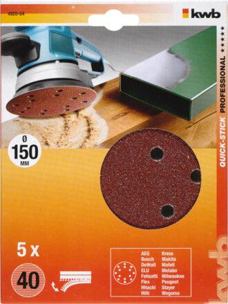 Velcro Sliberondel Korn 40 - Ø 150  mm værktøj