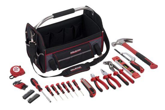 Værktøjssæt 47 dele i taske med rem værktøj