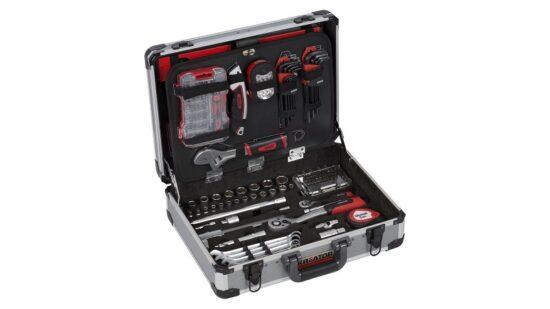 Værktøjssæt 180 dele i aluminiums kuffert værktøj
