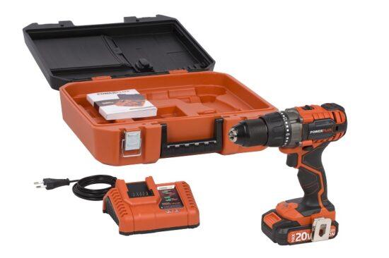 Bore og skruemaskine med 20 V batteri værktøj