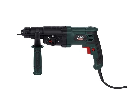 Borehammer i kuffert med 5 dele 800 Watt værktøj