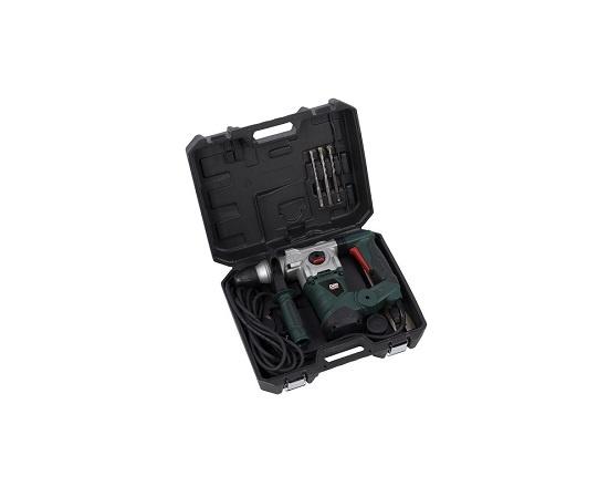 Borehammer i kuffert med 5 dele 1500 W værktøj