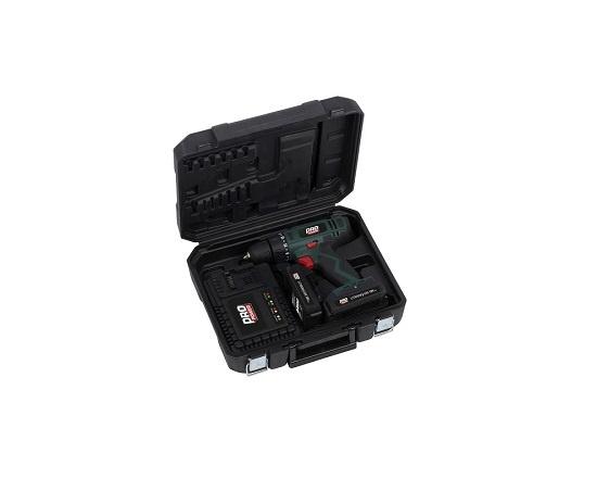 Bore og skruemaskine med 2 batterier 18V værktøj