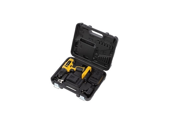 Bore og skruemaskine med 2 batterier 16V værktøj
