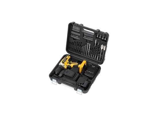 Bore og skruemaskine i kuffert 74 dele værktøj