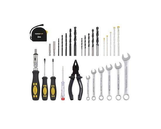 Boremaskine og værktøj 133 dele kuffert værktøj