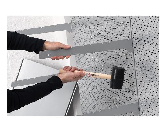 Gummihammer sort 700 gram Ø 65 mm værktøj